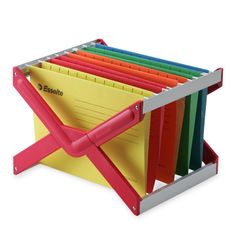 LEITZ/X-Frame レッド 1995yen 出し入れスムーズ!大量の書類を効率的にファイリング
