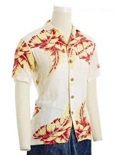 Gold and Red Tropics Shirt | NiftyThrifty - Rare Finds Everyday