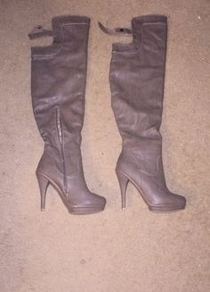 Wild Diva Taupe Thigh Highs