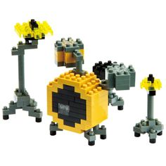 NanoBlock Drum Set - Rock out at home, the office or at school with this fantastic mini drum kit. Awestruck!
