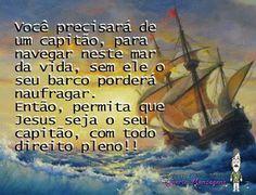 RCE Mensagens: Permita que Jesus seja seu capitão.