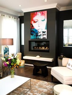 Modern Living Rooms from Lori Dennis