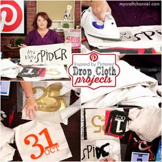 Sept 11th: Inspired by Pinterest Drop Cloth Projects, Mega Paper Kit 3