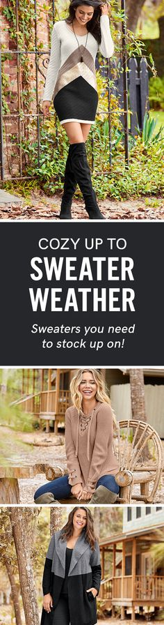 So many sweaters, so many outfits! Find your new favorite in our Sweater Shop Collection today!