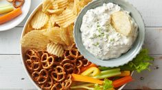 Dill pickle fans will love this creamy, tangy dip, which is great served with pretzels, potato chips or vegetables!