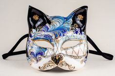 Buy Venetian masks for sale at our online shop. Made by the master craftsmen at Ca' Macana here in Venice, Italy. Best Carnival of Venice masks in the world. Kawaii Accessories, Jewelry Accessories, Japanese Fox Mask, Kitsune Mask, Venice Mask, Steampunk Mask, Cat Mask, Magical Jewelry, Cool Masks