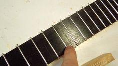 Making the fretboard Guitar Diy, Guitar Room, Cigar Box Guitar Plans, Tenor Ukulele, Cool Stuff, Board, How To Make, Crafts, Guitar