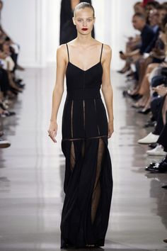 Jason Wu Spring 2016 Ready-to-Wear Collection, Shorts, black dress, negligee style, evening dress