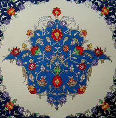 Persian Illuminations (Tazhib) artwork by Mojgan Lisar: Toranj Islamic Art Pattern, Arabic Pattern, Pattern Art, Persian Pattern, Persian Motifs, Decoupage, Motif Oriental, Islamic Tiles, Iranian Art
