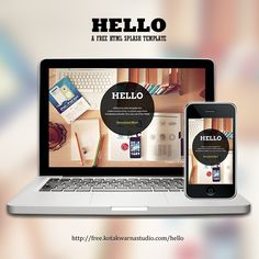 HELLO. A free html splash template from Kotakwarna Studio. Get it FREE at http://free.kotakwarnastudio.com/hello