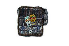 Hand-Woven Sugar Skulls Bag (Medium)