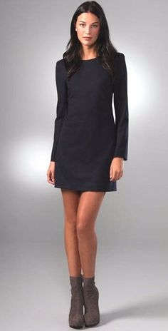 a864e2efc6d Theory Janneth Dress Dark Charcoal Wool Size 10 Great for Work