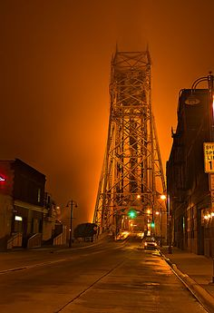 Aerial Lift Bridge, Duluth  It really does look like this sometimes. I didn't even know what I had when I was there