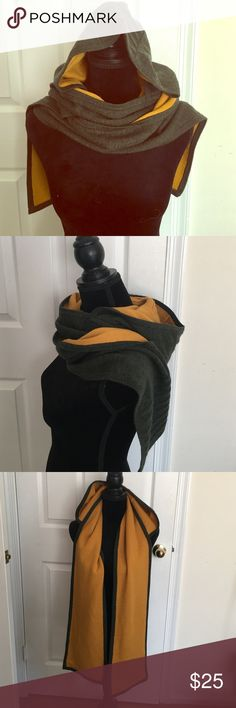 💯 merino wool hooded scarf Has tiny hole very unnoticeable. Already reduced the price for that so price is firm unless bundled. Accessories Scarves & Wraps