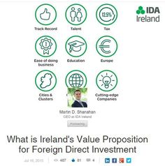 Tweet: Excellent piece by @IDAIRELAND CEO on #Ireland's 3 C's- Cities/Clusters, Connected Research & Top Co's #Vision2020SI