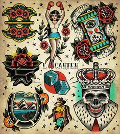 Traditional Tattoo Illustration, Traditional Tattoo Prints, Traditional Tattoo Old School, Traditional Tattoo Flash, Traditional Tattoo Sketches, American Traditional Sleeve, Neo Traditional, Desenhos Old School, Tattoos Mandala