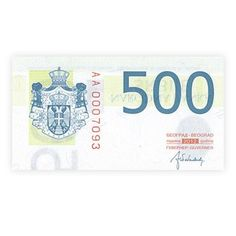V Srbsku sa platí novými typmi  500 a 2 000 dinárových bankoviek datovaných rokom 2012 a novými podpismi súčasného guvernéra.