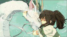 /Spirited Away/#430269 - Zerochan | Hayao Miyazaki | Studio Ghibli / Ogino Chihiro and Haku