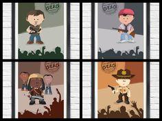 Cartoon Walking Dead by bensmind on Etsy.