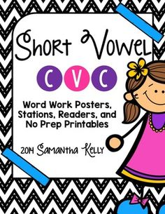Short Vowel activities for CVC words.  This unit has 14 engaging station, small group, and independent learning activities that cover each vowel in CVC words.  For each letter you get:- Emergent Reader- Word Family Sort- Short Vowel Dictionary- Puzzle Matching- Short Vowel Poem Practice- Write the Room- Bingo- Write and Wipe- Short Vowel Mystery Picture- Cut and Paste with Pictures- Label it - Writing CVC Words- Real or Nonsense Sort- Short Vowel Graphingand 4 colorful word family…