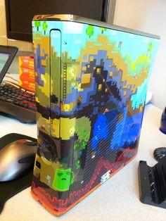 Minecraft themed Xbox