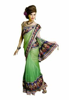 #Indian #Wear #Green & #Purple #Embroidered #Saree #Fabdealdotcom, http://www.amazon.co.uk/dp/B00HGEVSYU/ref=cm_sw_r_pi_dp_9Dprtb0J0W7TW