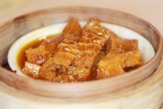 Chewy squares of tripe in a flavorful curry sauce. | #Tripe #Curry
