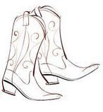 Boot Spurs Clip Art | ... Single Cowboy Boot with Spur Clip Art ...