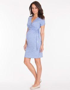 Baby Blue Polka Dot Maternity Dress | Seraphine