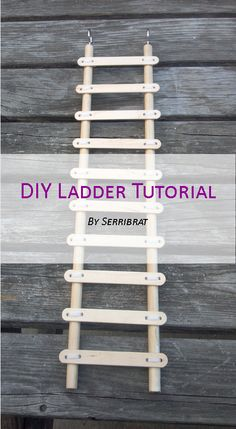 This simple tutorial will teach you how to build a ladder for a pet rat cage.  Fair warning - pet rats love to chew wood, so depending on the temperament of your rats, this ladder may not last very...