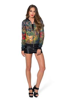XS Tropical Storm GF Bomber - LIMITED by Black Milk Clothing $100AUD