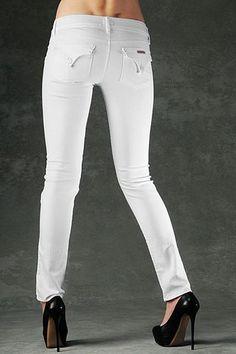Hudson Collin Signature Skinny Jeans- White
