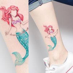 Disney tattoos ariel, doe tattoo, piercing tattoo, piercings, little mermai Arrow Tattoos, Love Tattoos, Beautiful Tattoos, Body Art Tattoos, Small Tattoos, Tattoos For Women, Cat Tattoos, Ankle Tattoos, Temporary Tattoos