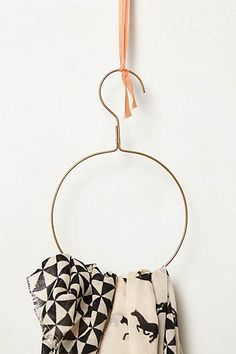 Orbital Scarf Hanger - add some scarf rings Scarf Hanger, Metal Hangers, Fashion Mode, Decorative Storage, Do It Yourself Home, Organizing Your Home, Diy Projects To Try, Getting Organized, Home Accessories