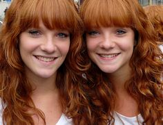 twins  Anne & Malou, Redhead Day, Breda   by Eddy Van 3000