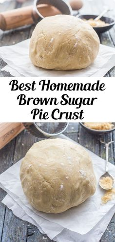 Homemade Brown Sugar Pie Crust, an easy simple pie dough, that is perfect for your favorite pies, tarts and much more. Flakey and buttery. The added touch of brown sugar makes it perfect. It will be your new go to Pie Crust Recipe. #piedough #piecrust