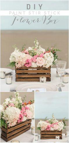 DIY Rustic Flower Crate via weddingchicks