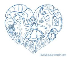 Alice In Wonderland Tattoo Designs I Says Working On An Alice In Wonderland. - Alice In Wonderland Tattoo Designs I Says Working On An Alice In Wonderland Tattoo - Tattoo Sketches, Drawing Sketches, Tattoo Drawings, Drawing Ideas, Disney Tattoos, New Tattoos, Cool Tattoos, Tatoos, Alice And Wonderland Tattoos