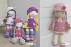 Patrón de muñeca amigurumi Anni Crochet Doll Pattern, Crochet Dolls, Crochet Baby, Free Crochet, Crochet Patterns, Amigurumi Tutorial, Owl Hat, Amigurumi Doll, Crotchet