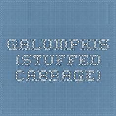 Galumpkis (Stuffed Cabbage)