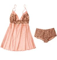 Peach Leopard Babydoll- Adjustable straps. Comes with matching ruffled panty. Regularly $19.99, buy Avon Fashion online at http://eseagren.avonrepresentative.com