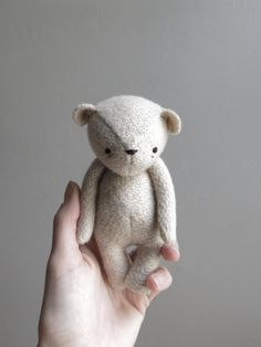 the dear ones - bear made for little hands and big hearts. handmade from vintage fabrics and wool stuffing with a hand embroidered face. - november 2013 -