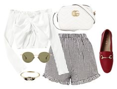 """""""Untitled #4630"""" by magsmccray ❤ liked on Polyvore featuring Gucci and Ahlem"""