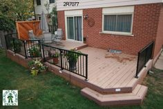 28' x 14' Large, low, 2-level deck (Ours won't be this big, but I like it)