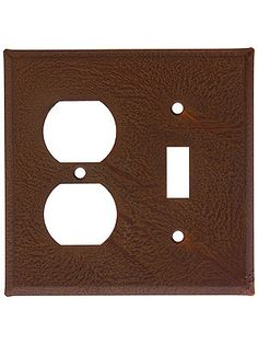 Country Tin Toggle/Duplex Combo Plate With Rust or Antique Finish