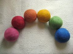 I love my wool dryer balls, no need for fabric sheets and they cut drying time down too!