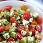 Tomato, Cucumber, Avocado Salad