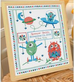 Everything Cross Stitch - Monster Birth Record
