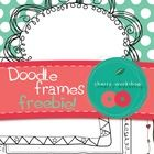 This is a free set of doodle frames.   There are four different designs. All with white and transparent background versions + one with a little bit of color :)  I was really happy to create them and would be equally happy to see them used.   No license is required.   Yet it will be highly appreciated if you credit me for the frames in your own designs and add a link to my blog or TPT store. Thank you!