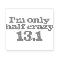 Half Marathon Half Crazy Gray Beer Label